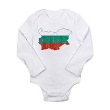 Bulgaria Flag And Map Long Sleeve Infant Bodysuit