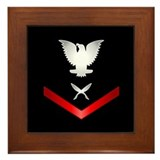 Navy PO3 Yeoman Framed Tile