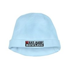 Eat Sleep Bowling baby hat