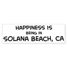 Solana Beach - Happiness Bumper Bumper Sticker