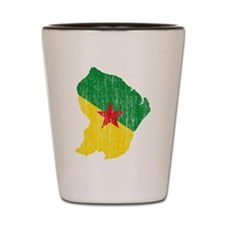 French Guiana Flag And Map Shot Glass
