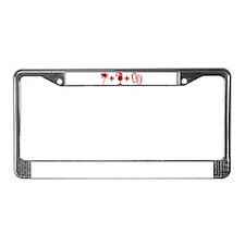 Beach Red License Plate Frame