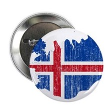 "Iceland Flag And Map 2.25"" Button (100 pack)"