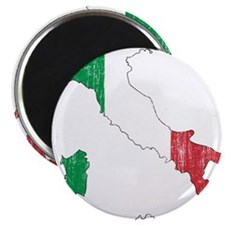"Italy Flag And Map 2.25"" Magnet (100 pack)"