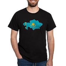 Kazakhstan Flag And Map T-Shirt