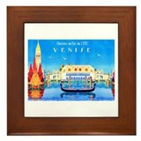 Venice Travel Poster 3 Framed Tile