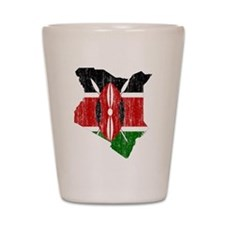 Kenya Flag And Map Shot Glass