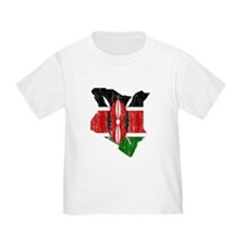 Kenya Flag And Map T