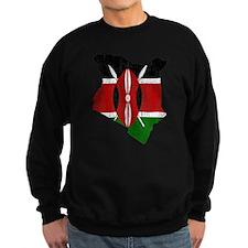 Kenya Flag And Map Sweatshirt