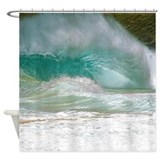 Sandy Beach Shorebreak Shower Curtain