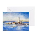 Boston Light Greeting Cards (Pk of 20)