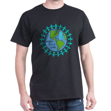 Ovarian Cancer United For A Cure Dark T-Shirt