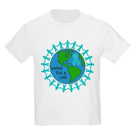 Ovarian Cancer United For A Cure Kids Light T-Shir