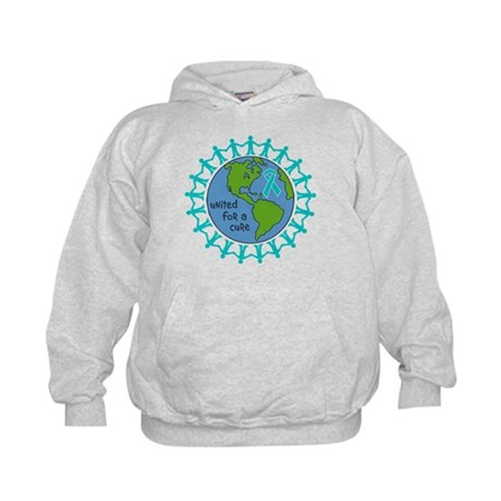 Ovarian Cancer United For A Cure Kids Hoodie
