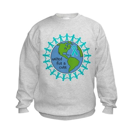 Ovarian Cancer United For A Cure Kids Sweatshirt
