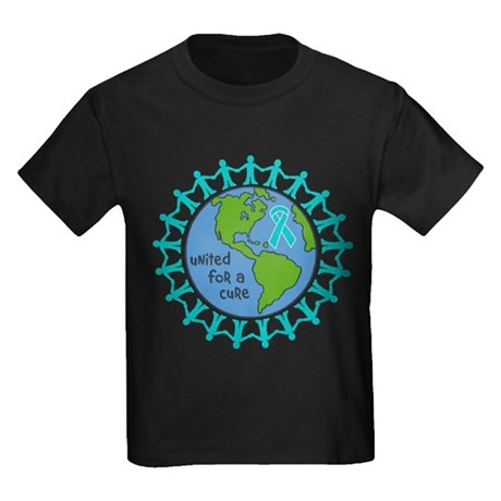 Ovarian Cancer United For A Cure Kids Dark T-Shirt