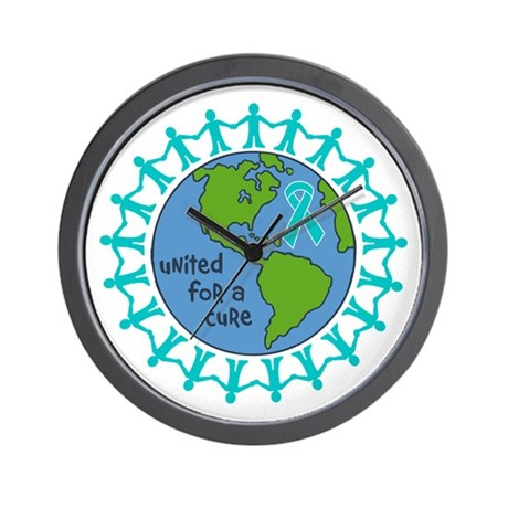 Ovarian Cancer United For A Cure Wall Clock