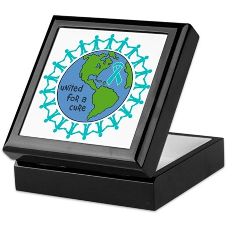 Ovarian Cancer United For A Cure Keepsake Box