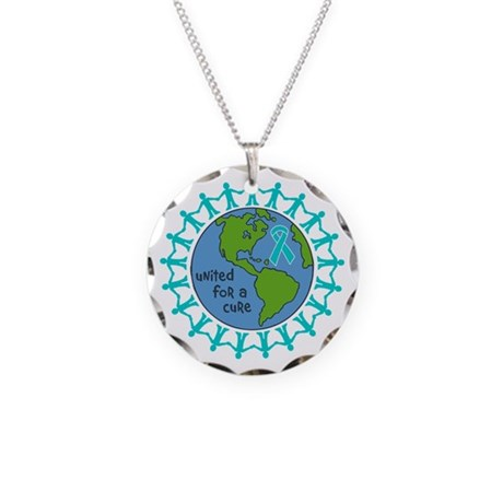 Ovarian Cancer United For A Cure Necklace Circle C