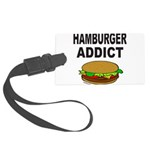 HAMBURGER ADDICT Large Luggage Tag