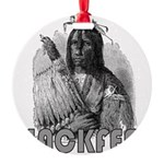 BLACKFEET INDIAN CHIEF Round Ornament