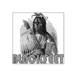 BLACKFEET INDIAN CHIEF Square Sticker 3