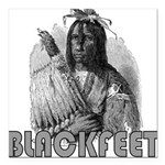 BLACKFEET INDIAN CHIEF Square Car Magnet 3
