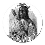 BLACKFEET INDIAN CHIEF Round Car Magnet