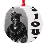 SIOUX INDIAN CHIEF Round Ornament