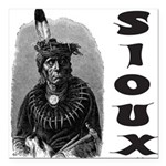SIOUX INDIAN CHIEF Square Car Magnet 3