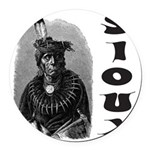 SIOUX INDIAN CHIEF Round Car Magnet