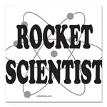ROCKET SCIENTIST Square Car Magnet 3