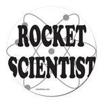 ROCKET SCIENTIST Round Car Magnet