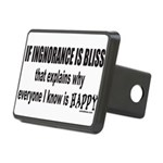 IGNORANCE IS BLISS Rectangular Hitch Cover
