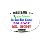 MR. RIGHT Oval Car Magnet