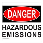 DANGER Square Car Magnet 3