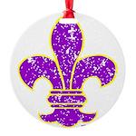 FLEUR DE LI Round Ornament