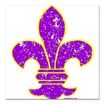 FLEUR DE LI Square Car Magnet 3