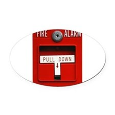 FIRE ALARM Oval Car Magnet