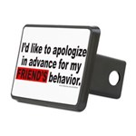 I'D LIKE TO APOLOGIZE Rectangular Hitch Cover
