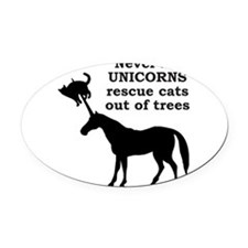 UNICORN Oval Car Magnet