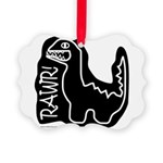 RAWR DINO Picture Ornament