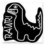 RAWR DINO Square Car Magnet 3