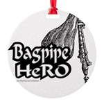 BAGPIPE HERO Round Ornament