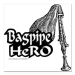 BAGPIPE HERO Square Car Magnet 3