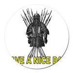HAVE A NICE DAY Round Car Magnet