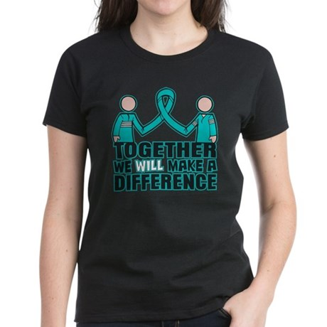 Ovarian Cancer Together Women's Dark T-Shirt