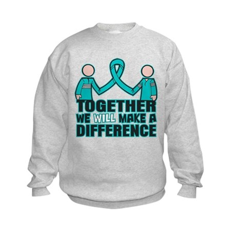 Ovarian Cancer Together Kids Sweatshirt