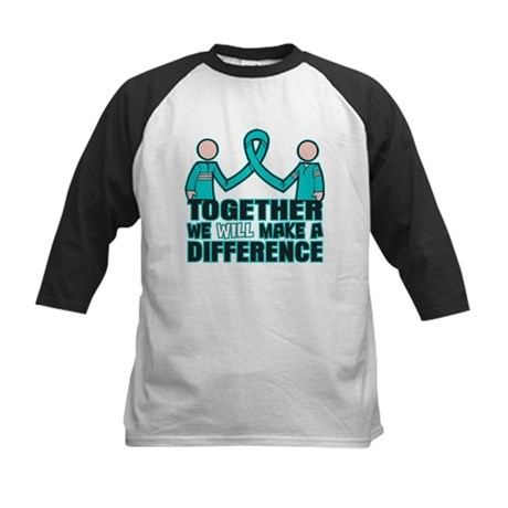 Ovarian Cancer Together Kids Baseball Jersey