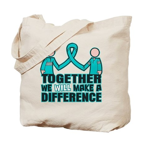 Ovarian Cancer Together Tote Bag